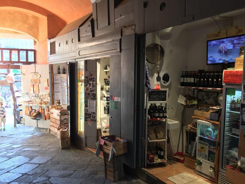 La bottega di Siena Tartufi in Piazza del Campo a Siena - Toscana