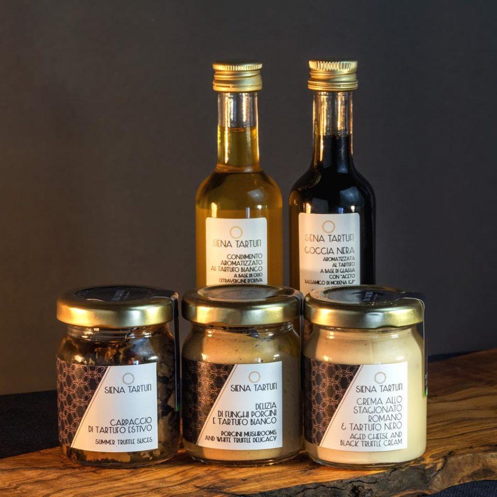 Una piccola selezione di prodotti di Siena Tartufi